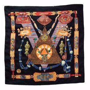 Hermes Tibet Silk Scarf Designed by Caty Latham